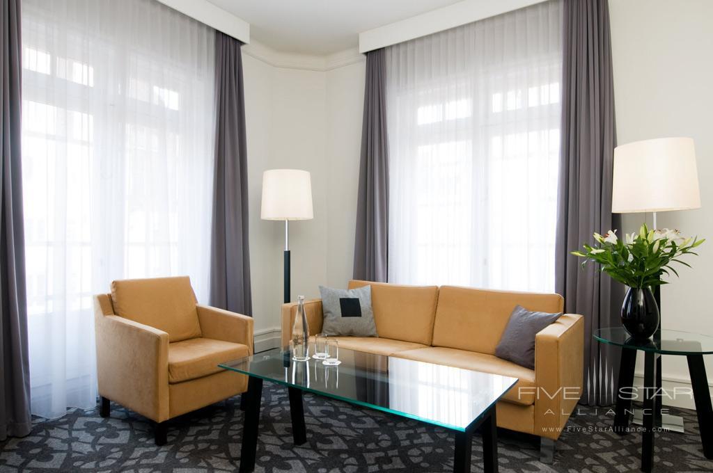 Junior Suite Living Room at Scandic Palace Hotel, Copenhagen, Denmark