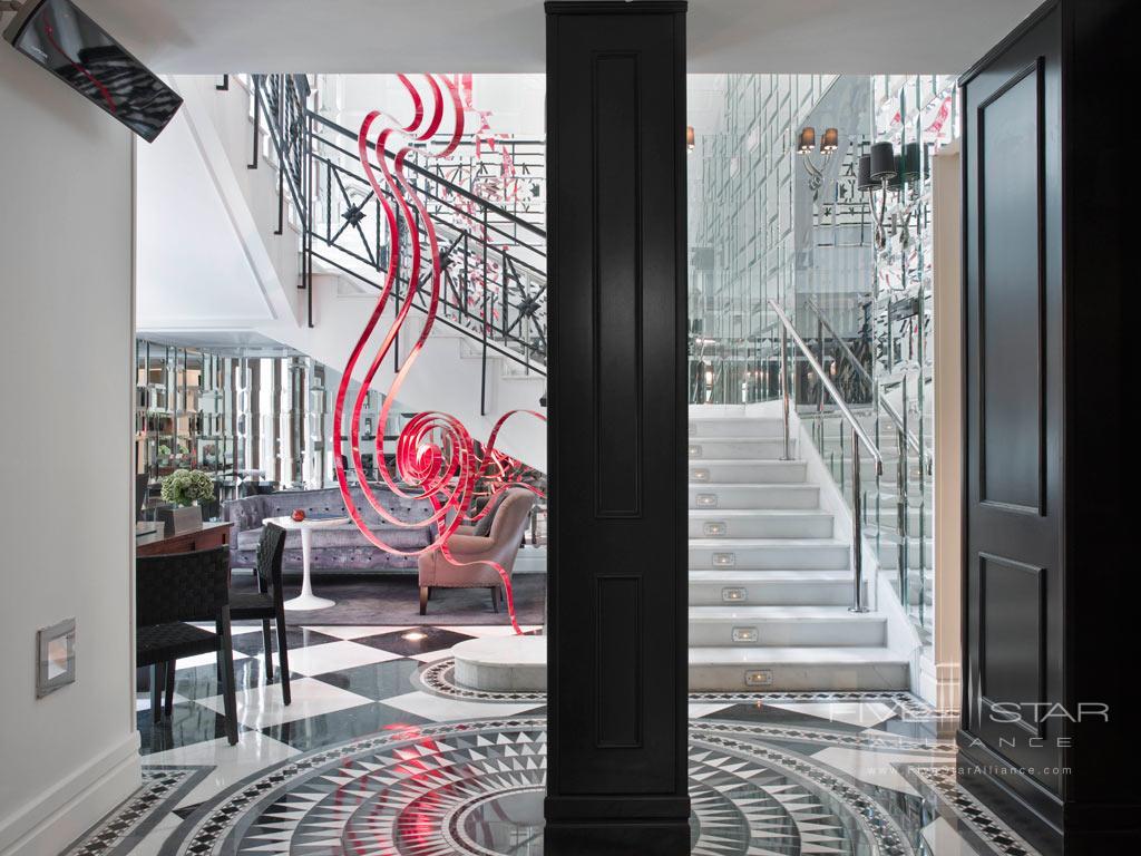 Lobby of Hotel Unico Madrid, Spain