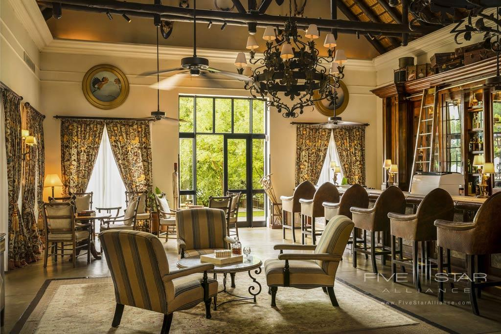 Travelers Bar at Royal Livingstone Hotel, Livingstone, Zambia