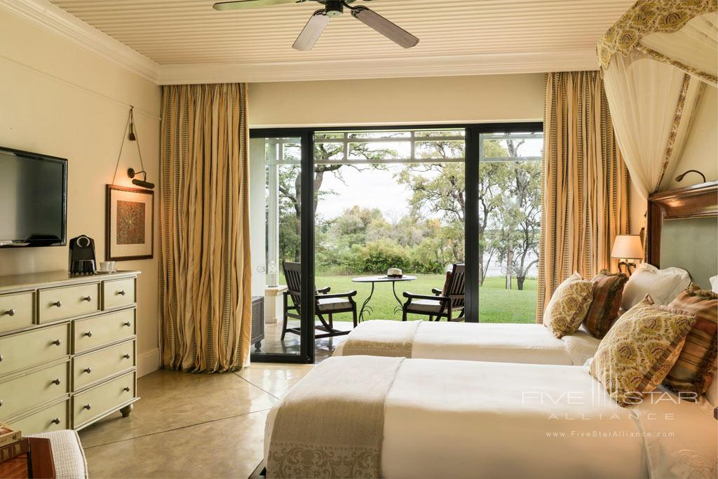 Deluxe Twin Guest Room at Royal Livingstone Hotel, Livingstone, Zambia