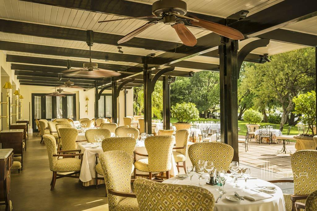 Terrace Dining at Royal Livingstone Hotel, Livingstone, Zambia