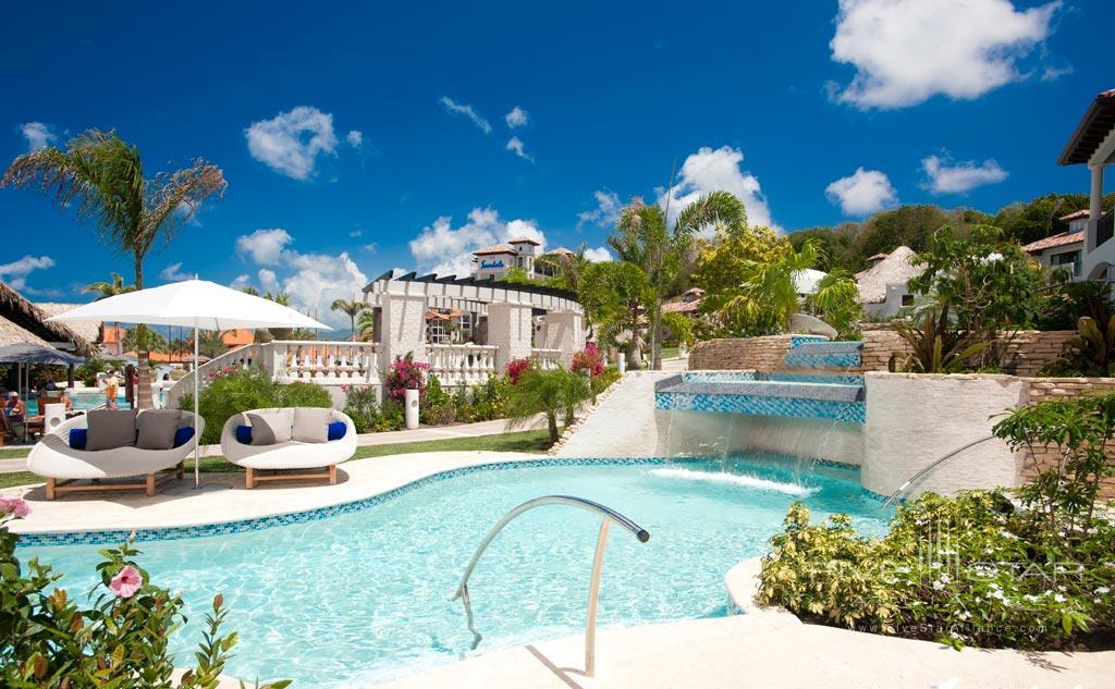 Outdoor pool at Sandals Grenada