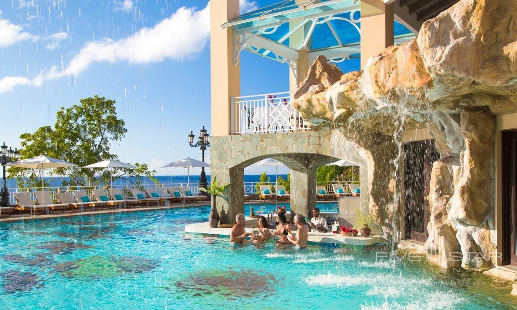 Bluffs Pool at Sandals Regency La Toc, Castries, Saint Lucia
