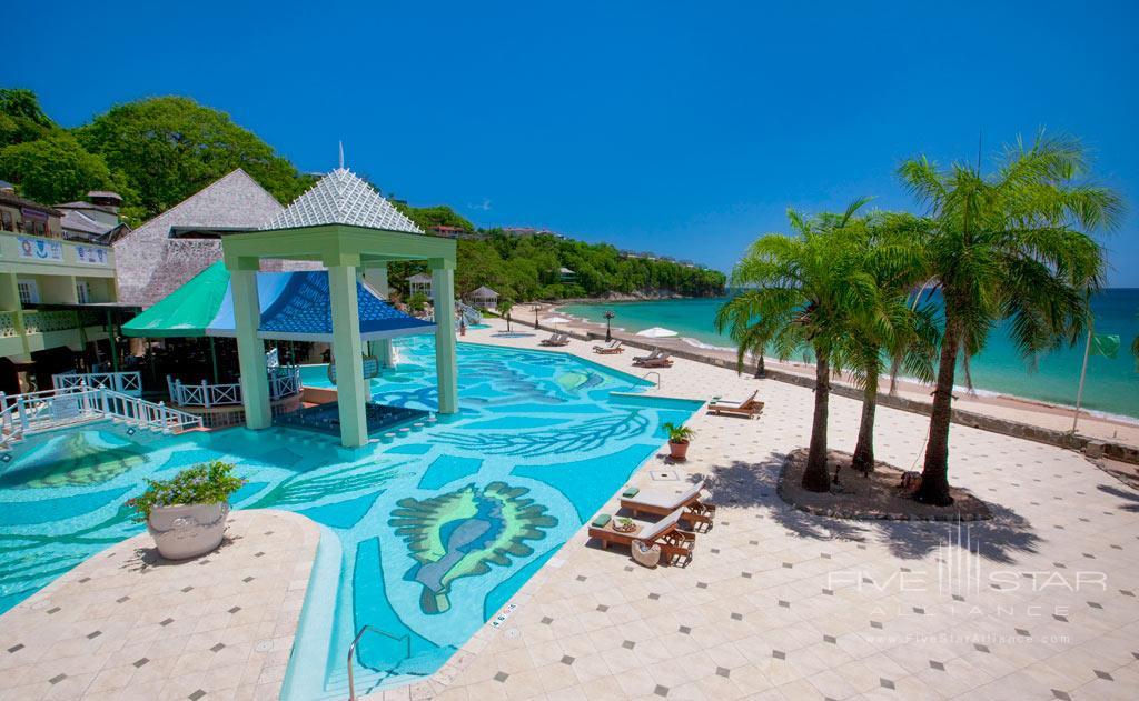 Main Pool at Sandals Regency La Toc, Castries, Saint Lucia
