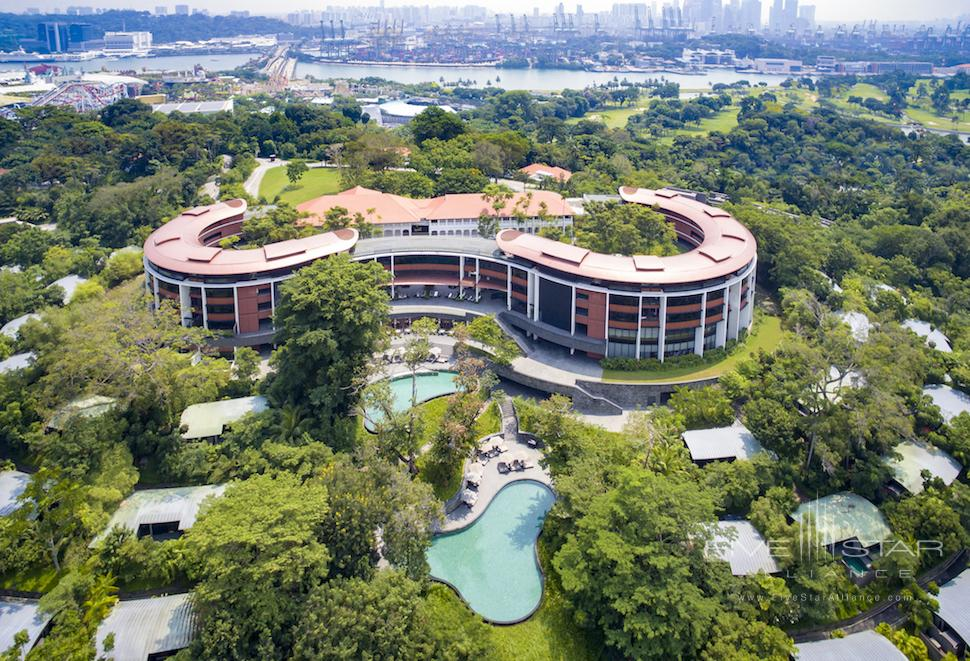 Aerial view of Capella Singapore