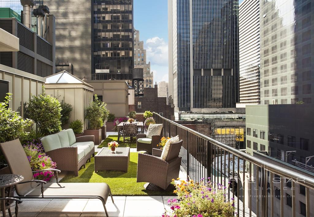 The Chatwal New York Producer Suite Rooftop Patio