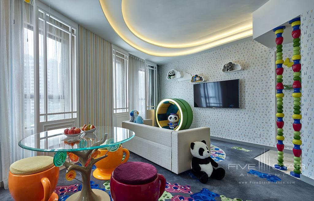Ocean Park Family Suite Living Room at Dorsett Wanchai, Hong Kong