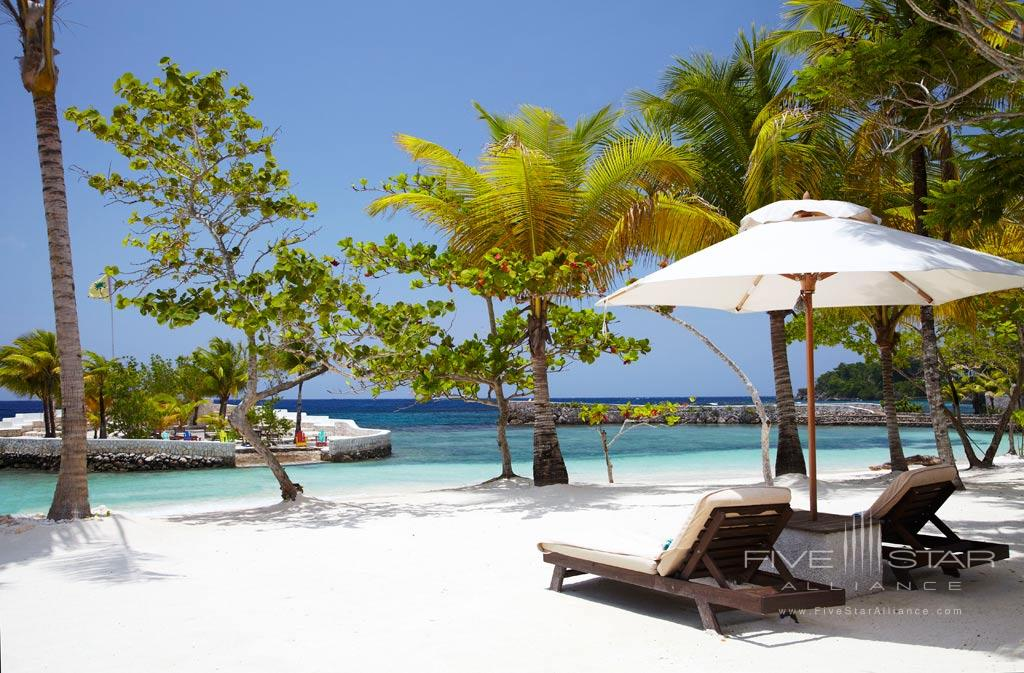 Beach at GoldenEye Hotel and Resort, St. Mary, Jamaica