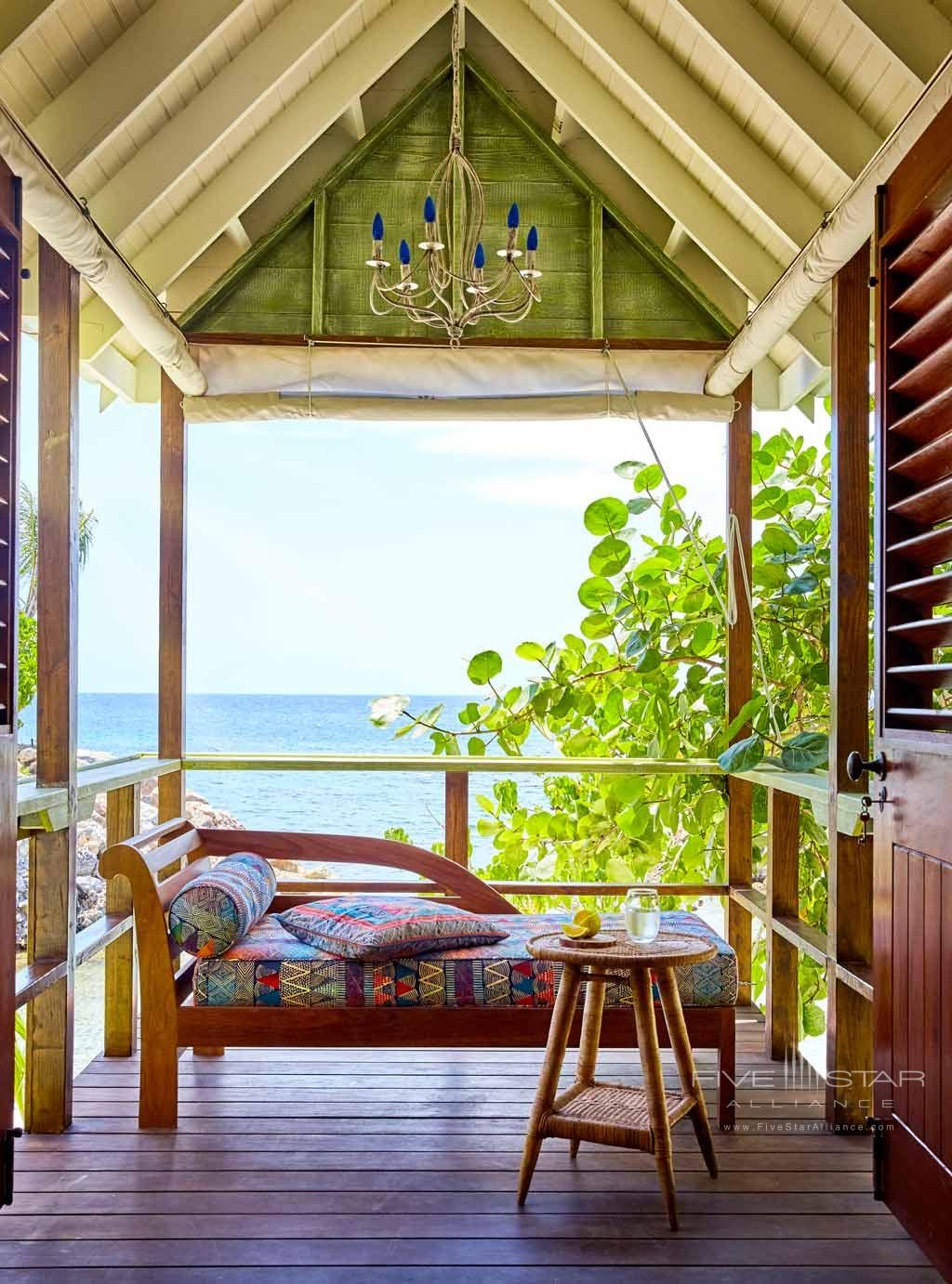 Beach Hut at GoldenEye Hotel and Resort, St. Mary, Jamaica