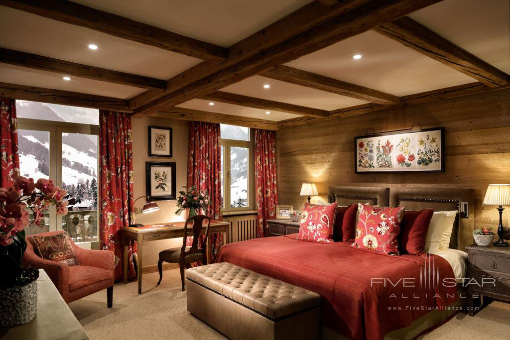 Suite at Gstaad Palace Hotel, Switzerland