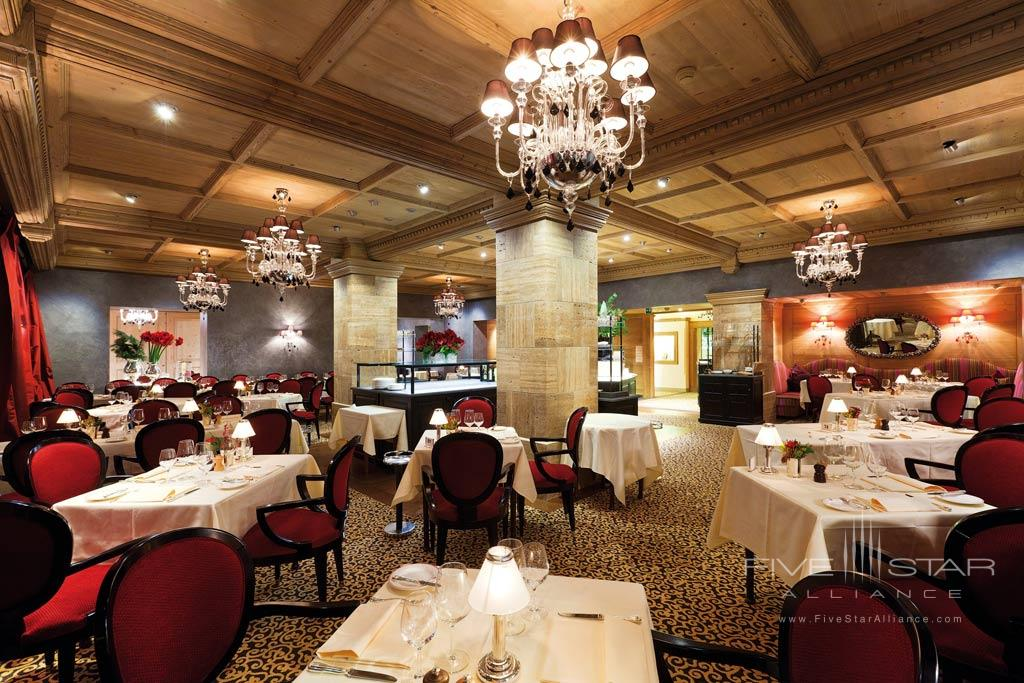 Le Grand Restaurant at Gstaad Palace Hotel, Switzerland
