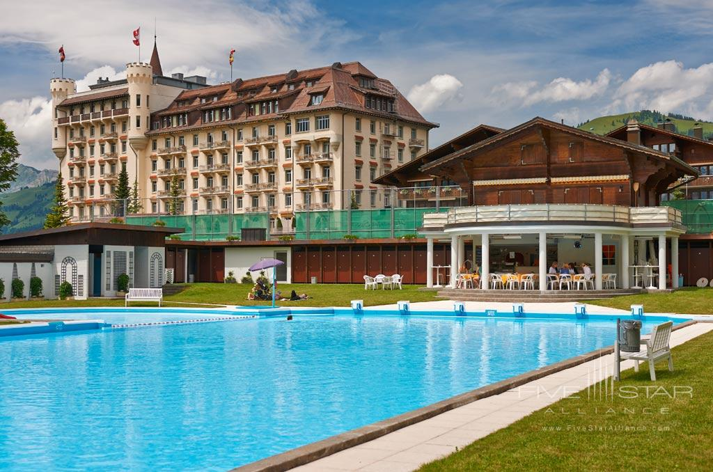 Outdoor Pool at Gstaad Palace Hotel, Switzerland