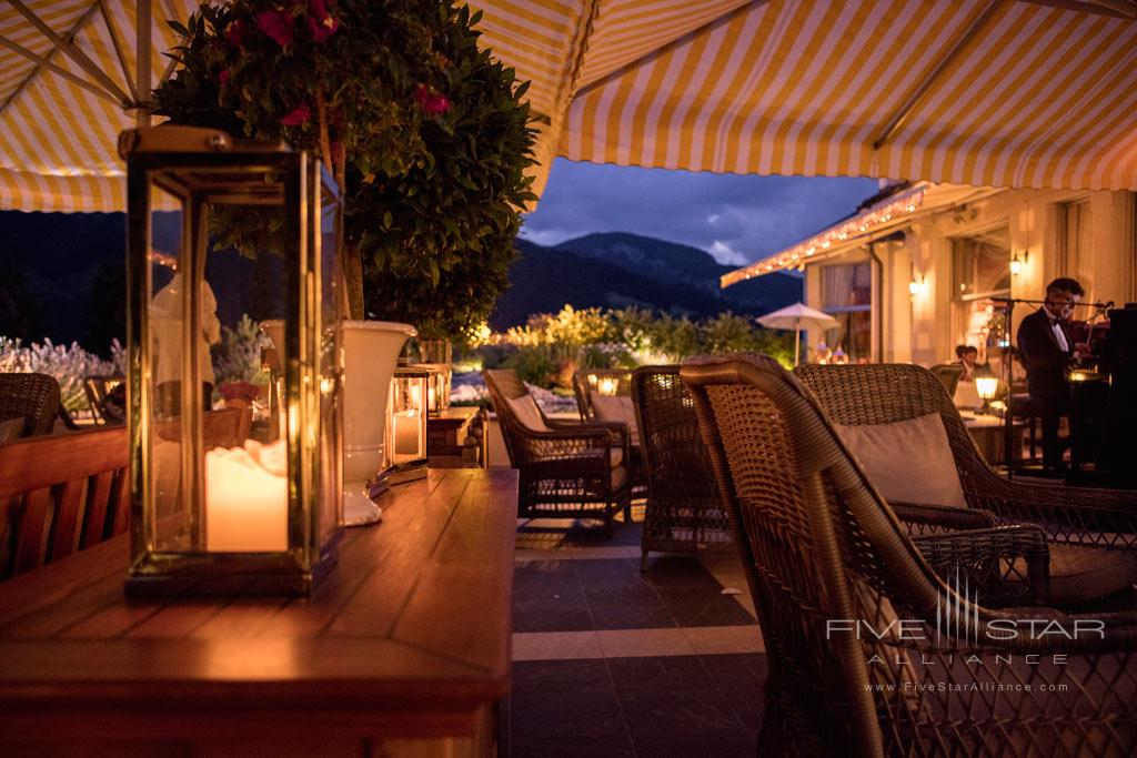 Terrace Dine at Gstaad Palace Hotel, Switzerland