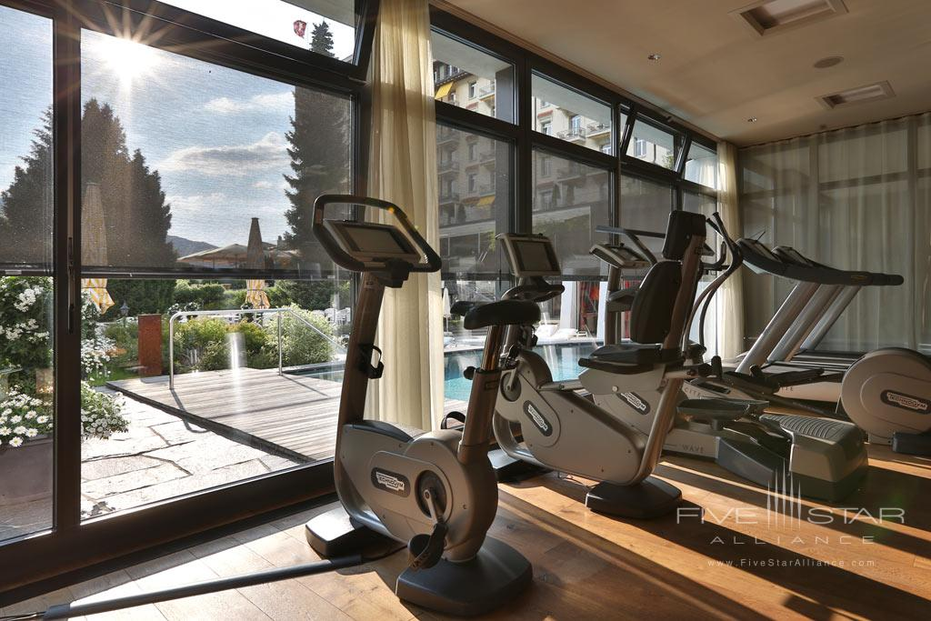 Gym at Gstaad Palace Hotel, Switzerland