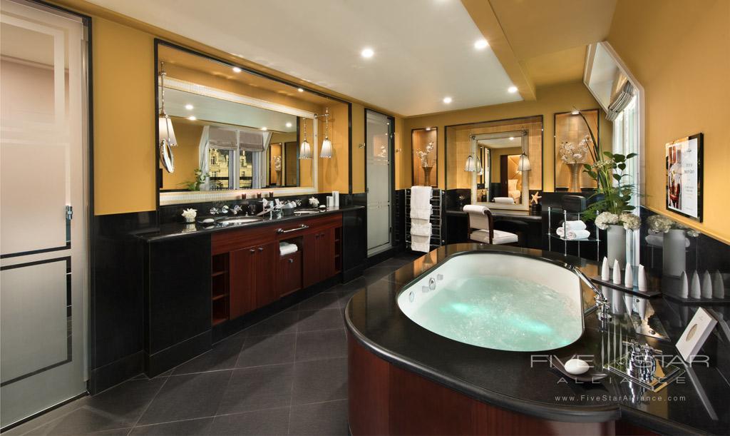 Suite Bath at Hotel Fouquet's Barriere, Paris, France