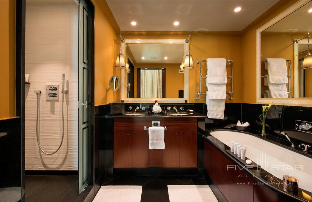 Guest Bath at Hotel Fouquet's Barriere, Paris, France