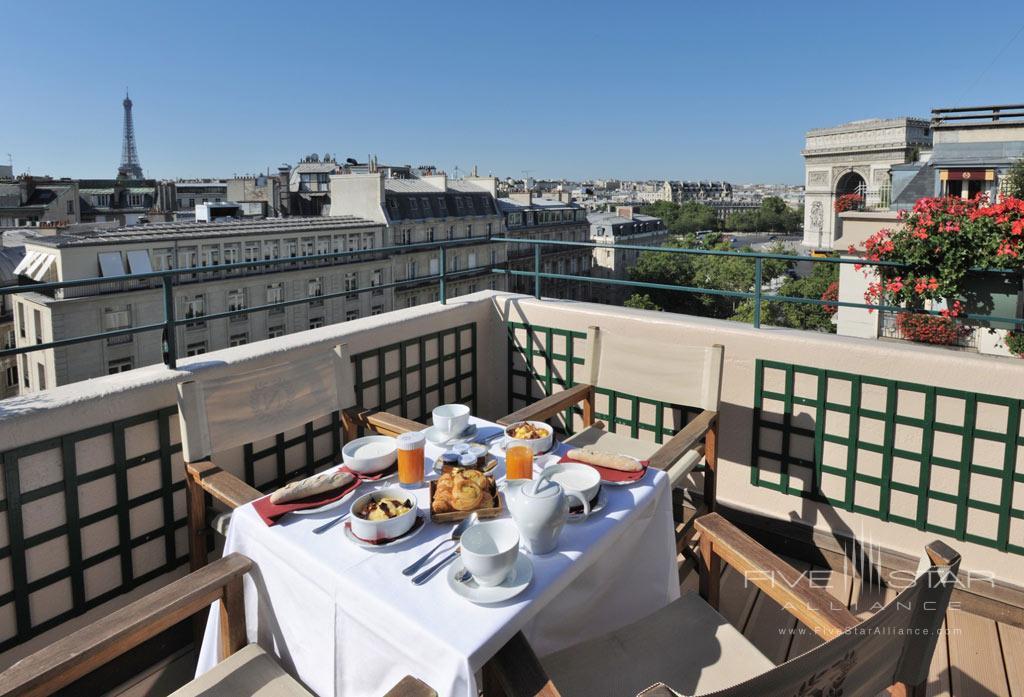 Terrace Dine at Hotel Napoleon Paris, France