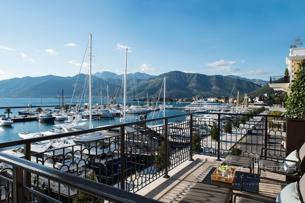 Views of Marina and The Boka Bay at Regent Porto Montenegro, Tivat, Montenegro