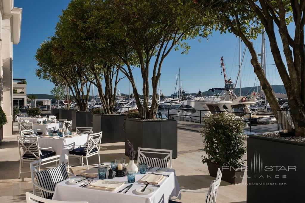 Terrace Dining at Regent Porto Montenegro, Tivat, Montenegro