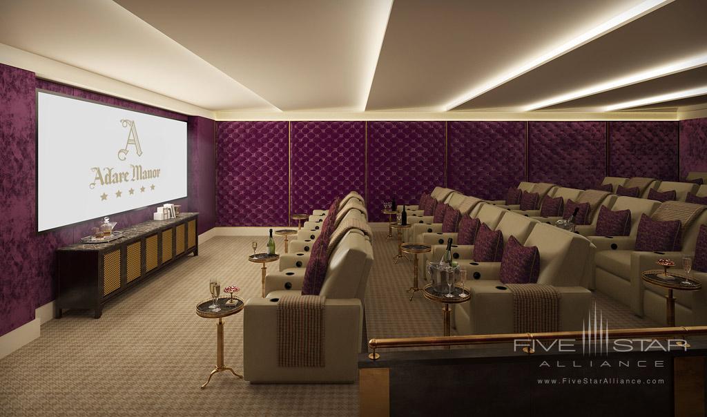 Cinema Room at Adare Manor Hotel and Golf Resort, County Limerick, Ireland