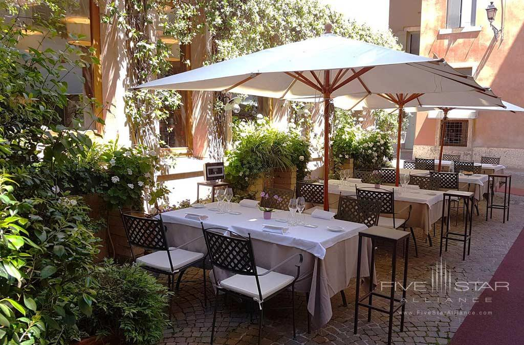 Terrace DIne at Palazzo Victoria, Verona, Italy