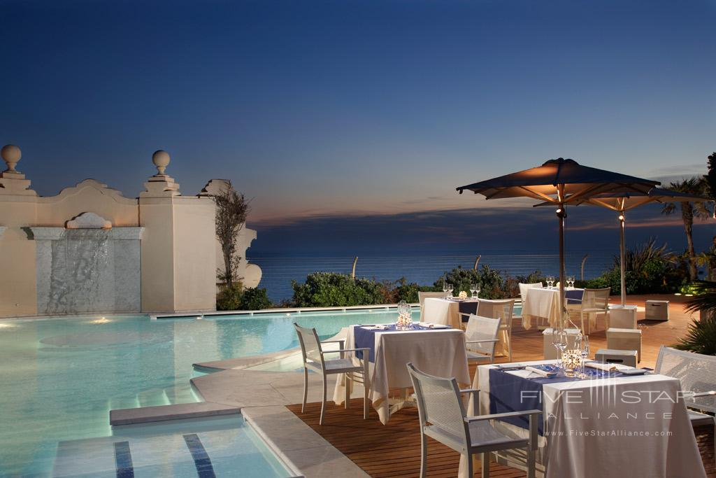 Rooftop dining at Grand Hotel Principe di Piemonte