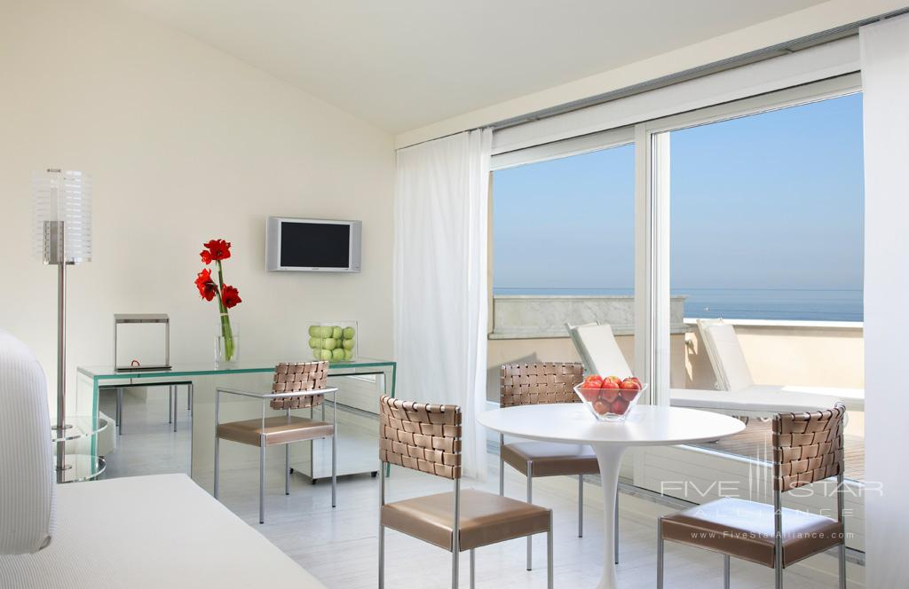 Modern Sea View Balcony and Jacuzzi Junior Suite at Grand Hotel Principe di Piemonte, Viareggio LU, Italy