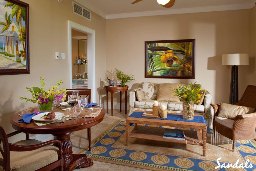Lounge at Sandals Emerald Bay, Great Exuma, Bahamas