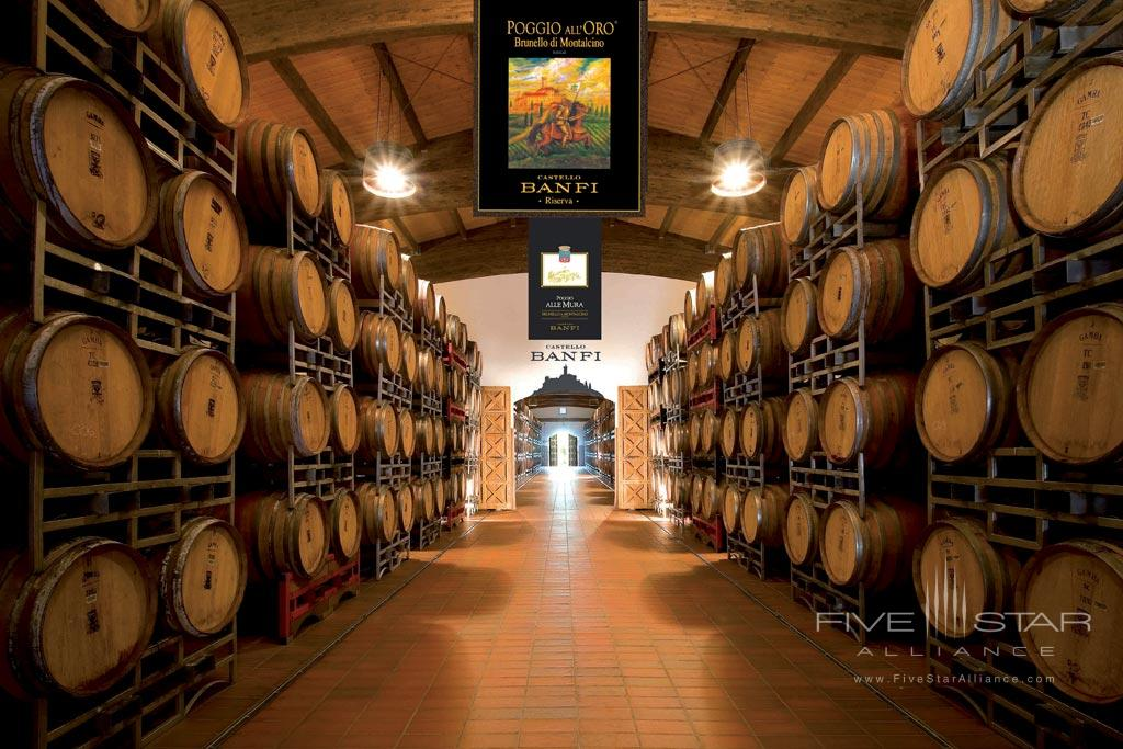 Winery at Castello Banfi - Il Borgo, Montalcino, Siena, Italy