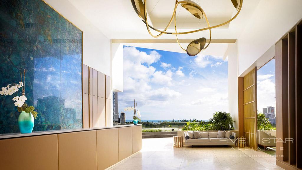 Lobby of The Ritz-Carlton Residences, Waikiki Beach Honolulu, HI