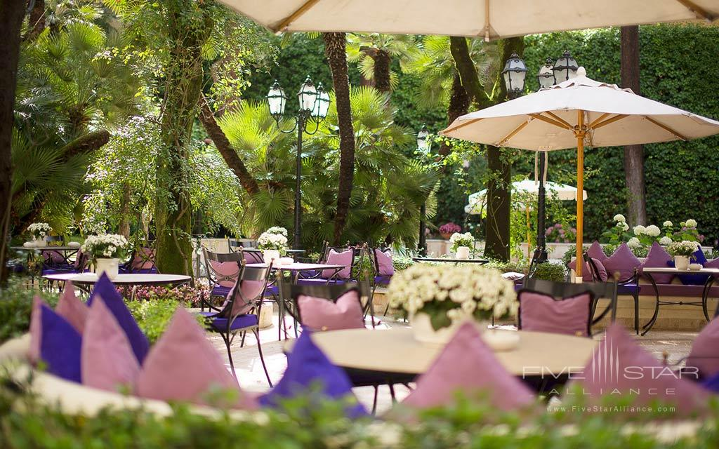 Patio Lounge at Aldrovandi Villa Borghese, Rome, Italy