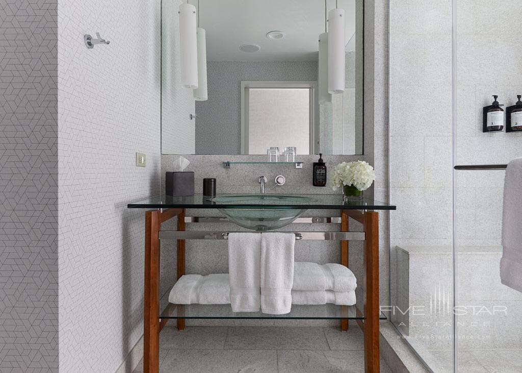 Single Vanity Bath at Hutton Hotel, Nashville, TN Credit Tim Williams