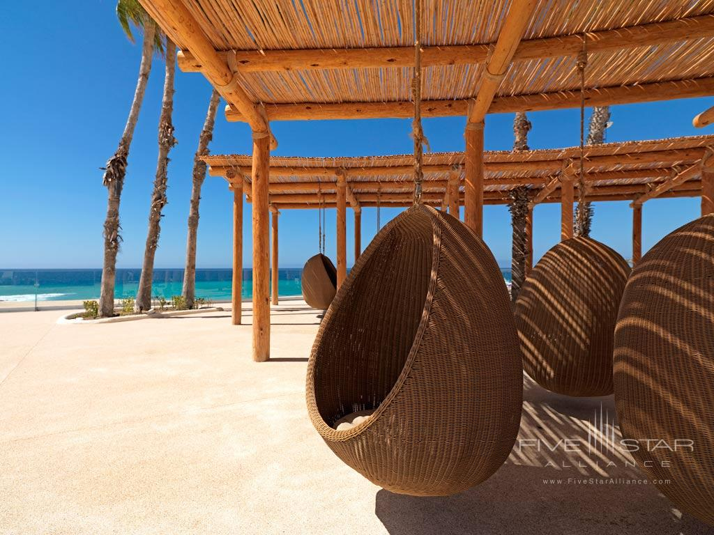 Lounge by the Beach in Eggs Chairs at Paradisus Los Cabos, Los Cabos, BCS, Mexico