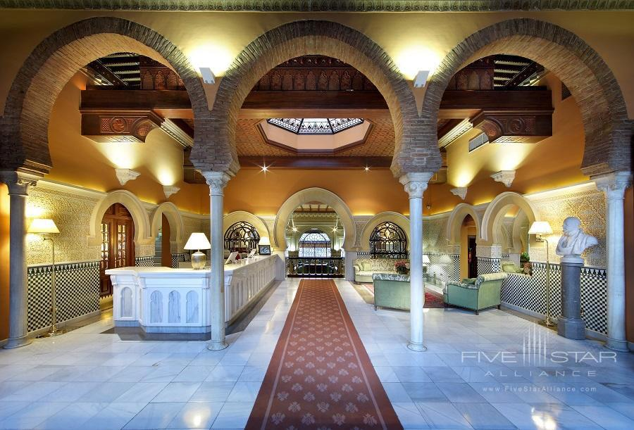 Reception at Alhambra Palace Hotel, Granada, Spain