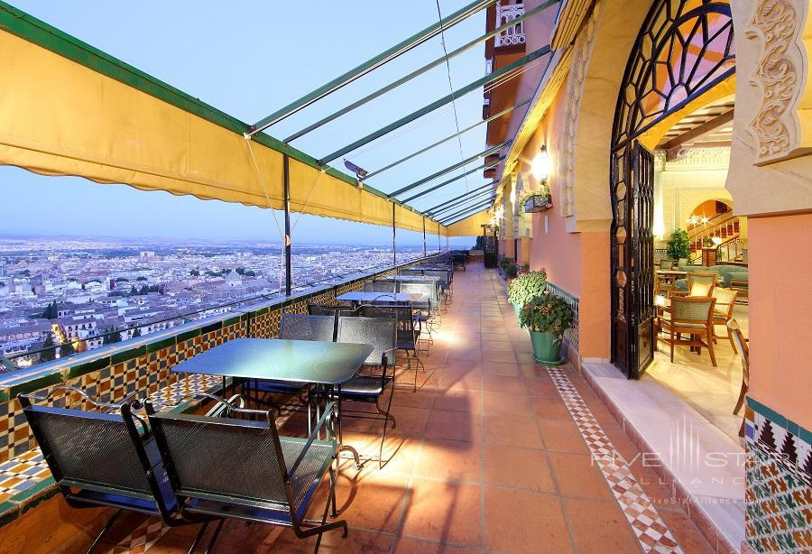 Terrace Lounge at Alhambra Palace Hotel, Granada, Spain