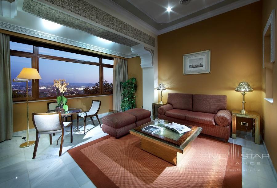 Junior Suite Living Room at Alhambra Palace Hotel, Granada, Spain