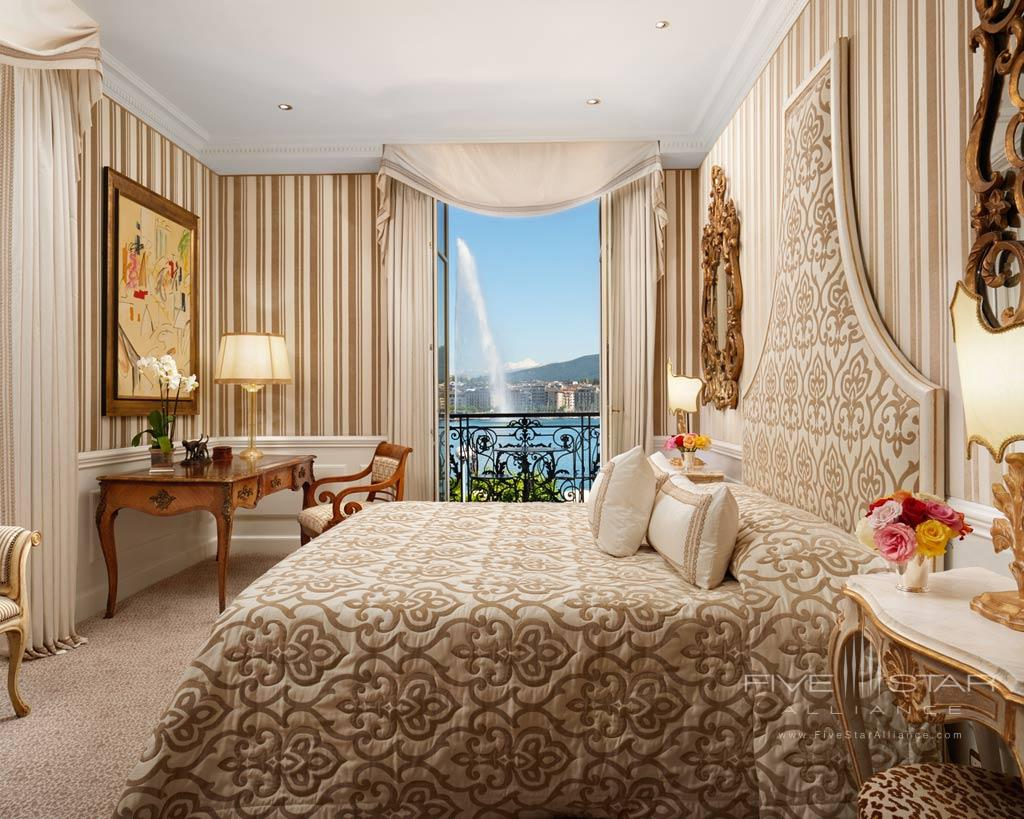Bedroom of the Bellevue Suite at Hotel d'Angleterre Geneva