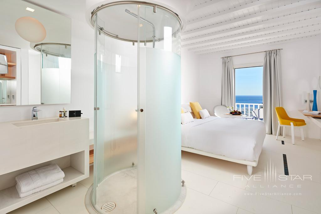 Guest Room at Myconian Ambassador Hotel and Thalasso Spa , Mykonos, Greece