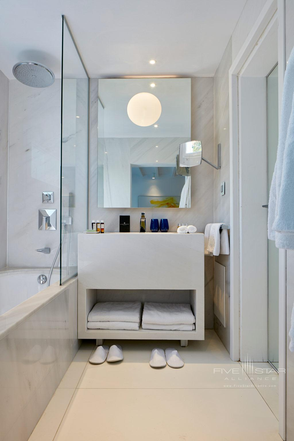 Guest Bath at Myconian Ambassador Hotel and Thalasso Spa , Mykonos, Greece