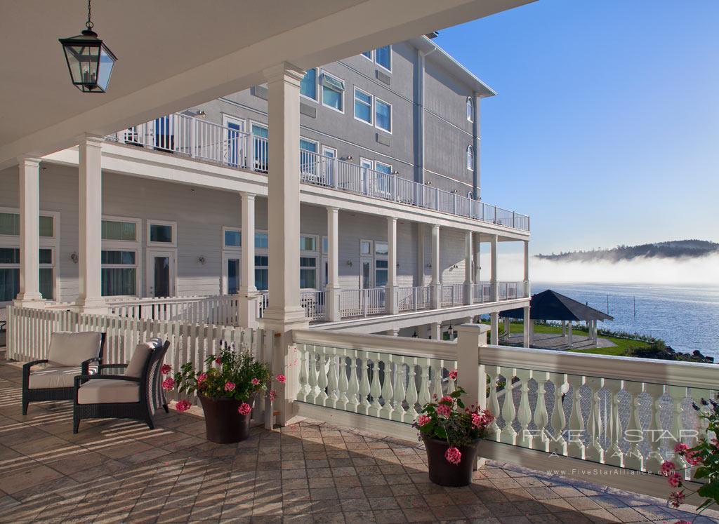 Upper Patio of Prestige Oceanfront Resort Sooke, Sooke, British Columbia, Canada