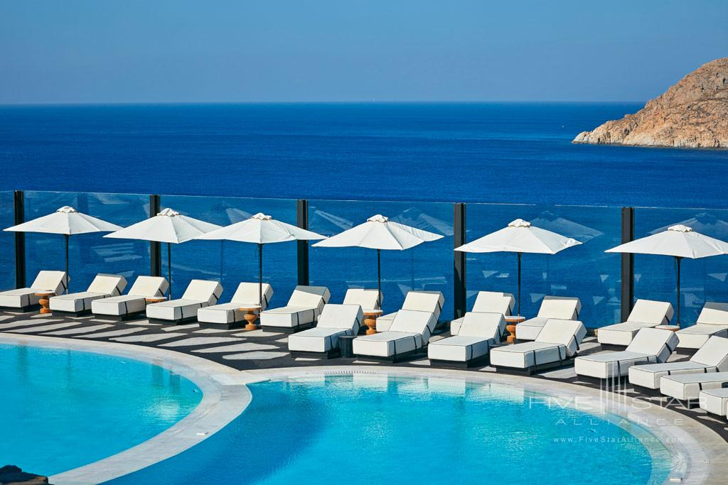 Outdoor Pool at Royal Myconian Resort and Thalasso Spa, Mykonos, Greece