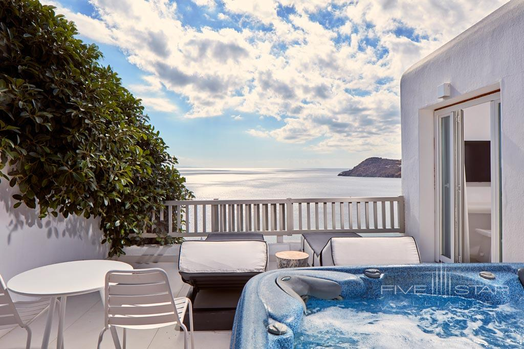 Premium Jacuzzi Suite at Royal Myconian Resort and Thalasso Spa, Mykonos, Greece