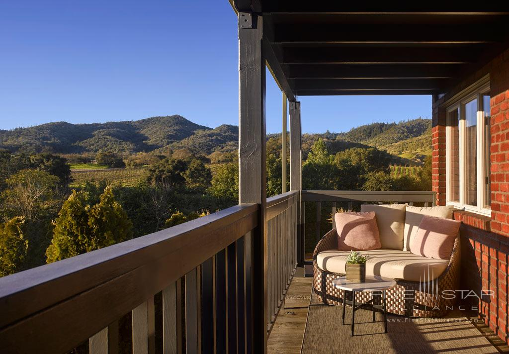 Terrace Views at Vintage House, Yountville, CA