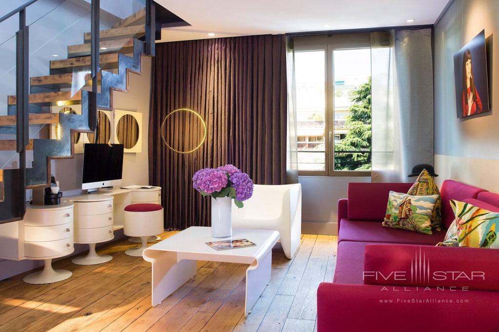 Suite Living at Hotel La Belle Juliette Paris, France