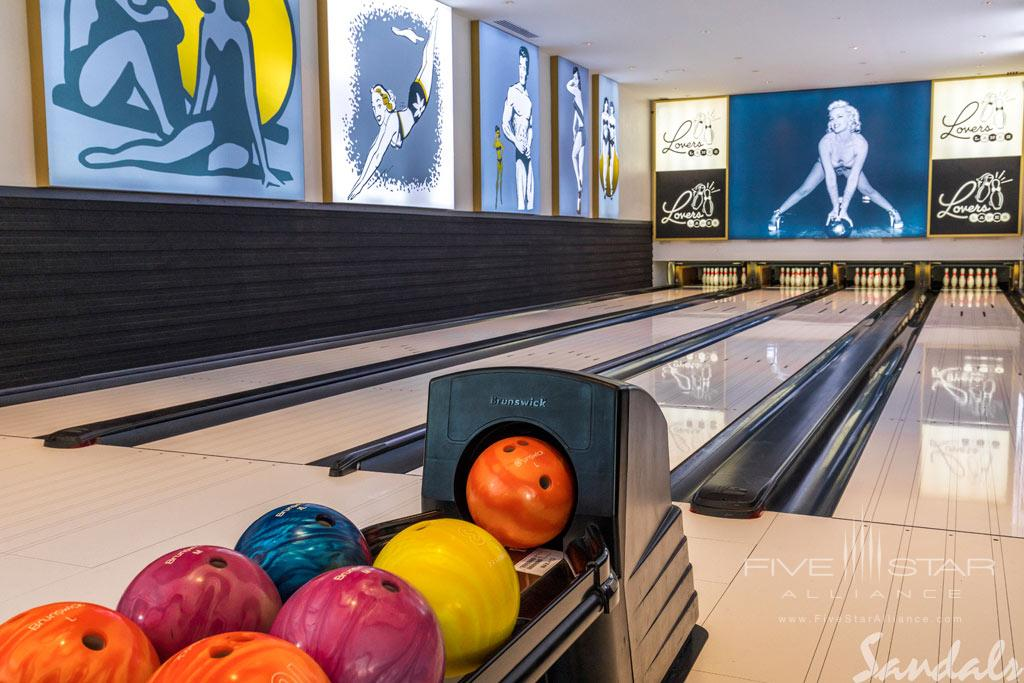 Bowling Alley at Sandals Royal Barbados