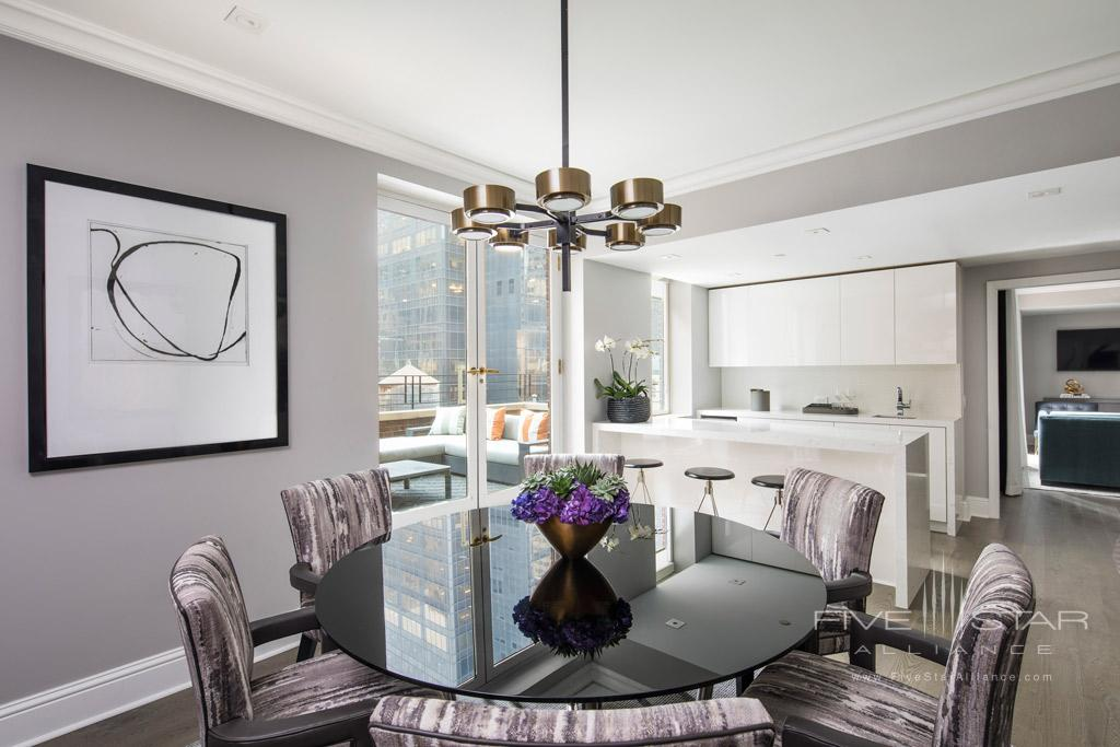 Apartment Suite Dining at Omni Berkshire Place New York, United States