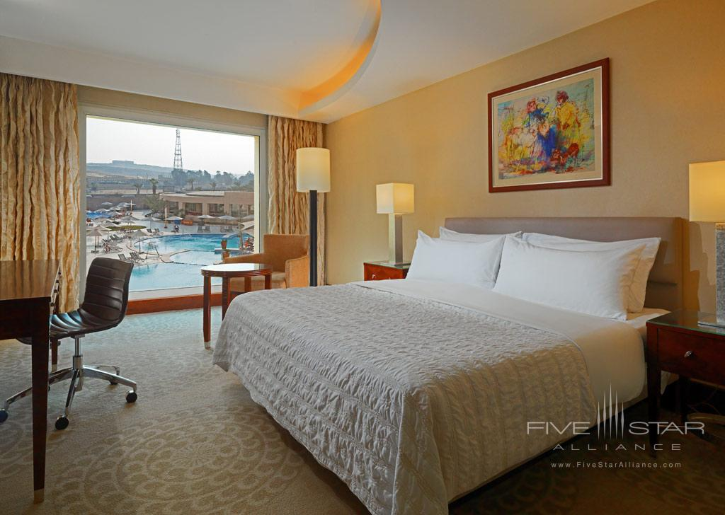 Deluxe King Guest Room with Pool Views at Le Meridien Pyramids, Cairo, Egypt
