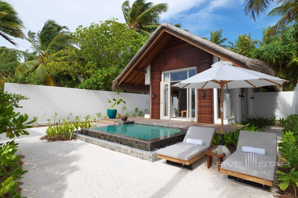 Deluxe Beach Villa at Fairmont Maldives Sirru Fen Fushi, Maldives