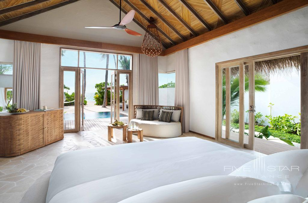 Premium Beach Villa at Fairmont Maldives Sirru Fen Fushi, Maldives