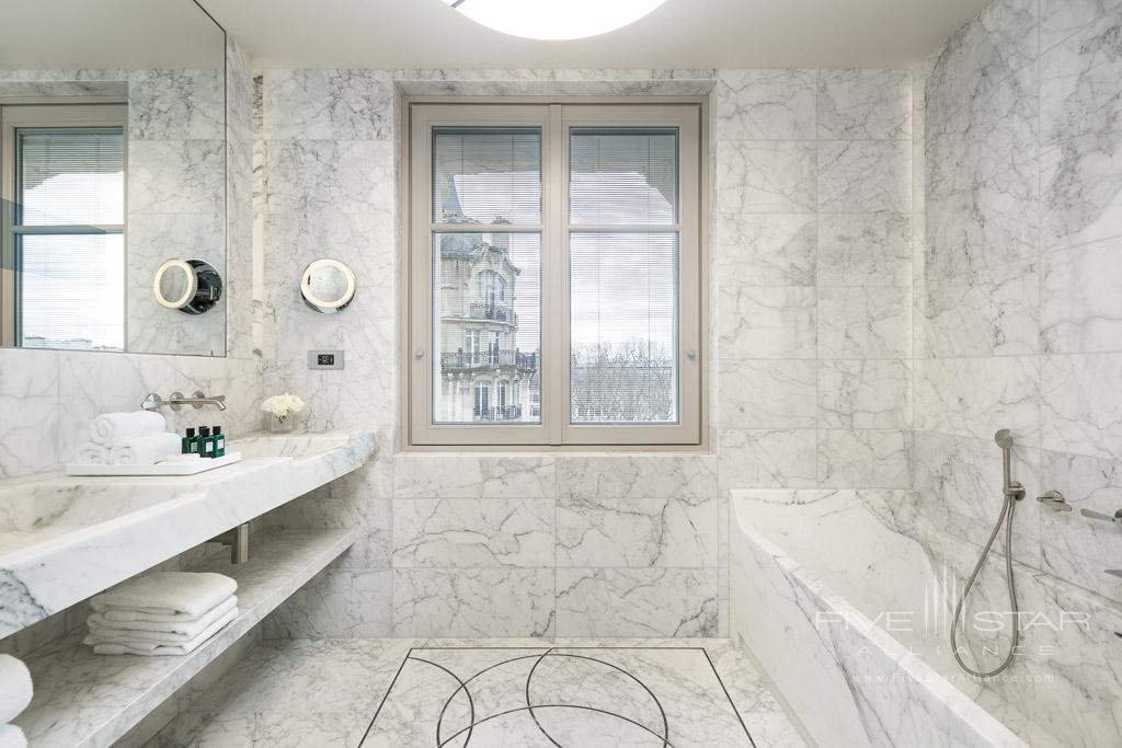 Guest Bath at Hotel Lutetia, Paris, France